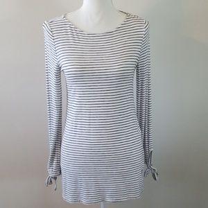 WHBM Long Sleeve Stripe Top XS